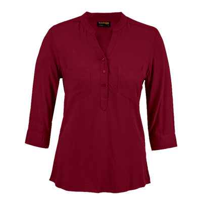 Ladies Oasis Blouse  Red Size Large