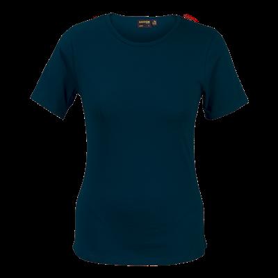 Ladies Organic Cotton Crew Neck T-Shirt Navy Size 2XL