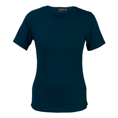 Ladies Organic Cotton Crew Neck T-Shirt Navy Size 3XL