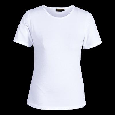 Ladies Organic Cotton Crew Neck T-Shirt White Size 3XL