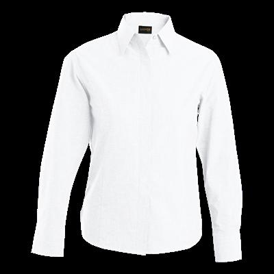 Ladies Oxford Blouse Long Sleeve  White Size 3XL