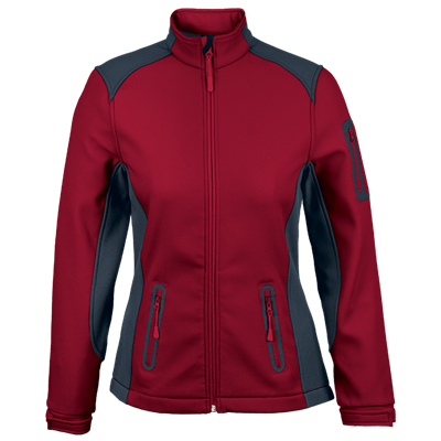Ladies Pegasus Jacket  Red/Granite Size Medium