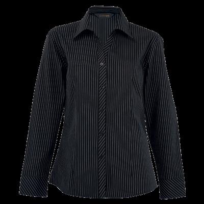 Ladies Quest Long Sleeve Blouse  Black/White Size 4XL