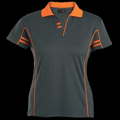 Ladies Spirit Golfer  Charcoal/Flouro Orange Size 4XL