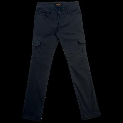 Ladies Stretch Cargo Pants  Black Size 34