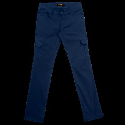 Ladies Stretch Cargo Pants  Navy Size 44