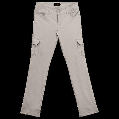 Ladies Stretch Cargo Pants  Stone Size 40