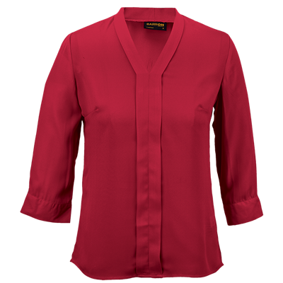 Ladies Tulip Blouse  Red Size 4XL