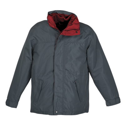 Mens 3-In-1 Jacket  Slate/Red Size Large