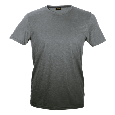 Mens Bailey Crew Neck T-Shirt Grey/Charcoal Size Large