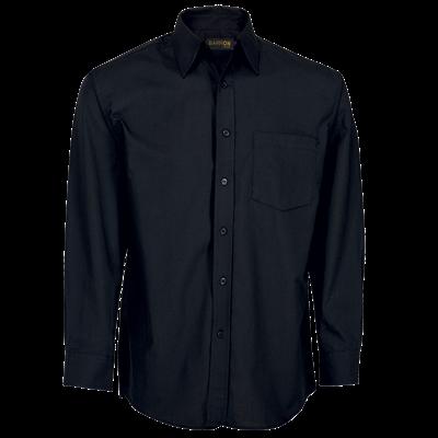 Mens Basic Poly Cotton Lounge Long Sleeve  Black Size 2XL