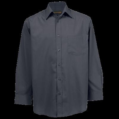 Mens Basic Poly Cotton Lounge Long Sleeve  Grey Size 3XL