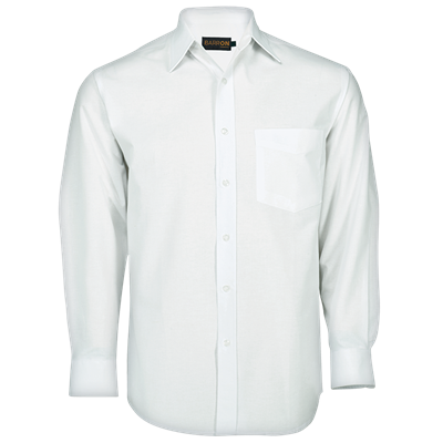Mens Basic Poly Cotton Lounge Long Sleeve  White Size 5XL