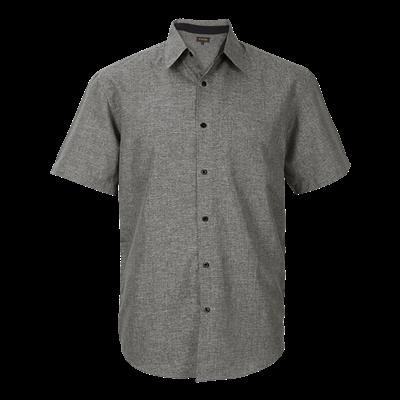 Mens Berlin Lounge Shirt Short Sleeve  Silver/Black Size Medium