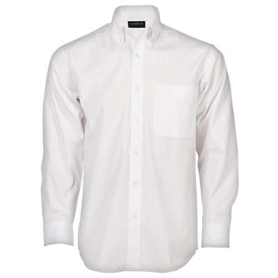 Mens Brushed Cotton Twill Lounge Long Sleeve  White Size 2XL