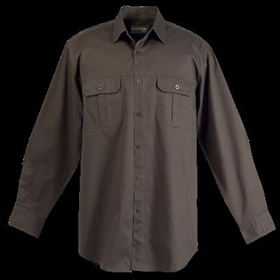 Mens Bush Shirt Long Sleeve  Safari Size Medium