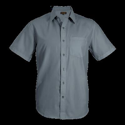 Mens Easy Care Lounge Shirt Short Sleeve  Grey Size Large
