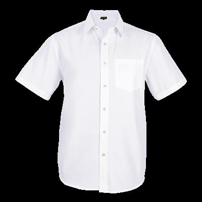 Mens Easy Care Lounge Shirt Short Sleeve  White Size XL