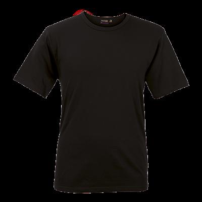 Mens Organic Cotton Crew Neck T-Shirt Black Size XS