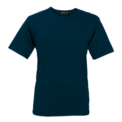 Mens Organic Cotton Crew Neck T-Shirt Navy Size Small