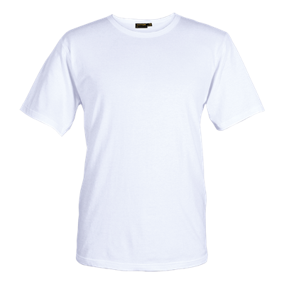 Mens Organic Cotton Crew Neck T-Shirt White Size XS