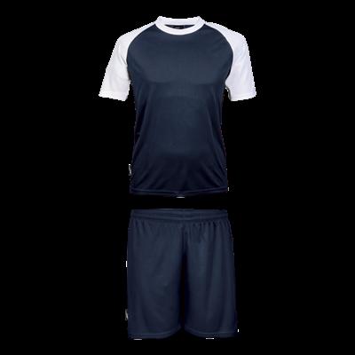 BRT Pitch Soccer Single Set Navy/White Size 3XL