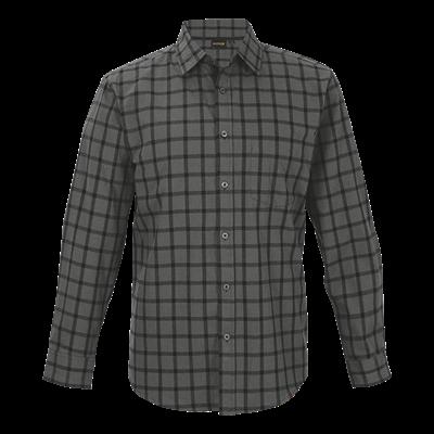 Enviro Lounge Shirt Long Sleeve  Charcoal/Black Size Small