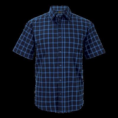 Enviro Lounge Shirt Short Sleeve  Navy/Blue Size Small