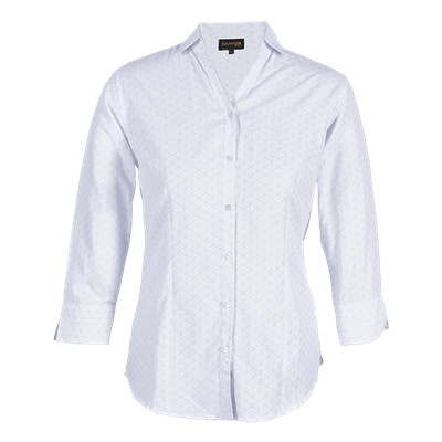 Ladies Claremont Blouse  White/Silver Size Small