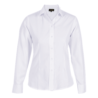 Ladies Easy Care Blouse Long Sleeve  White Size Medium