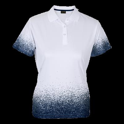 Ladies Haze Golfer  White/Navy Size Medium