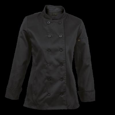 Ladies Long Sleeve Savona Chef Jacket  Black Size 4XL