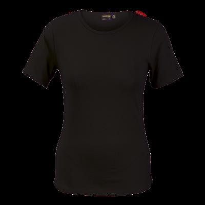 Ladies Organic Cotton Crew Neck T-Shirt Black Size XL