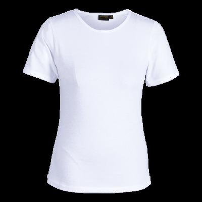 Ladies Organic Cotton Crew Neck T-Shirt White Size 4XL