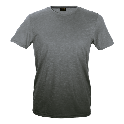 Mens Bailey Crew Neck T-Shirt Grey/Charcoal Size 4XL