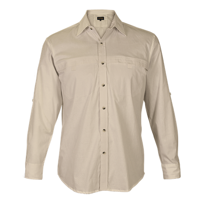 Mens Indiana Stretch Shirt  Stone Size Small