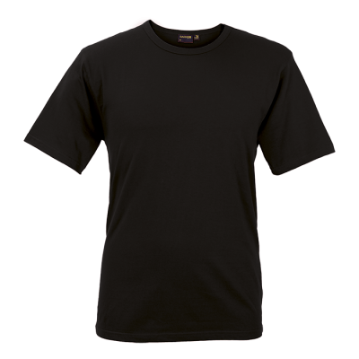 Mens Organic Cotton Crew Neck T-Shirt Black Size Medium
