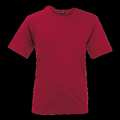Mens Organic Cotton Crew Neck T-Shirt Red Size 2XL