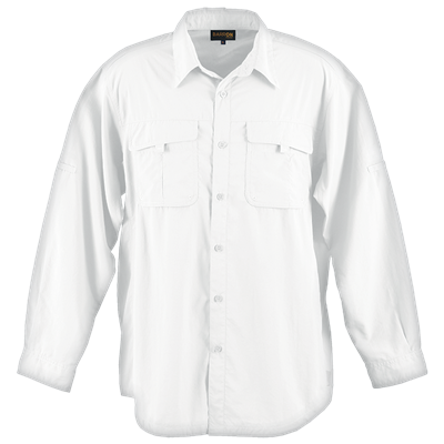 Mens Outback Shirt  White Size 3XL