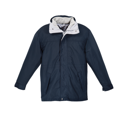 Mens 3-In-1 Jacket Navy/Silver Size Small