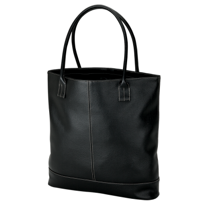 Lichee Tote With Zippered Closure Black