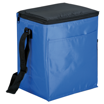 12 Can Cooler With 2 Exterior Pockets Peva Lining Blue