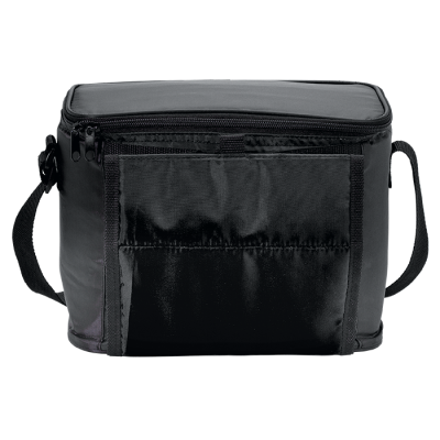 Cooler With Folding Cup Holders Black