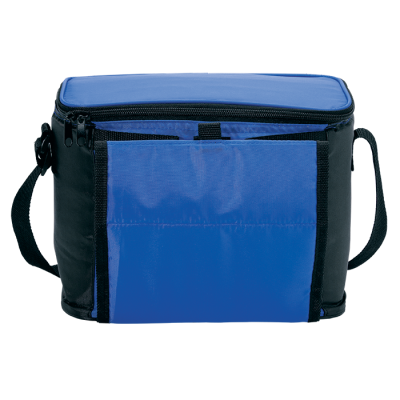 Cooler With Folding Cup Holders Blue