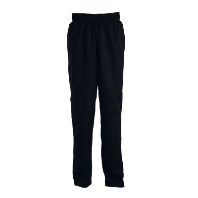 Chef Baggy Pants Black Size Small