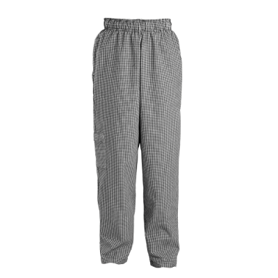 Chef Baggy Pants Black/White Check Size Large