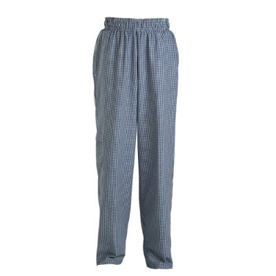 Chef Baggy Pants Navy/White Check Size Large