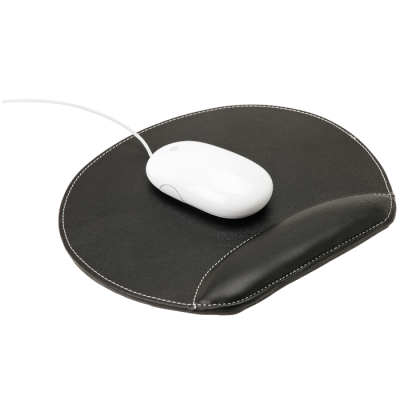 Mouse Pad With Gel Rest Black