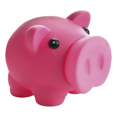 Piggy Bank with Nose Stopper Pink