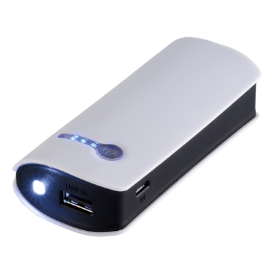 Powerbank with Torch - 4000 mAh White